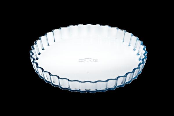 Форма с/к O CUISINE  форма стекл.кругл.27см(1.3л) рифл.sticker (803BN00/B046)