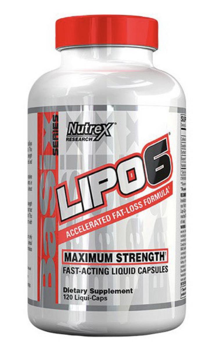 Жиросжигатель Nutrex Lipo 6 Maximum Strength 120 caps