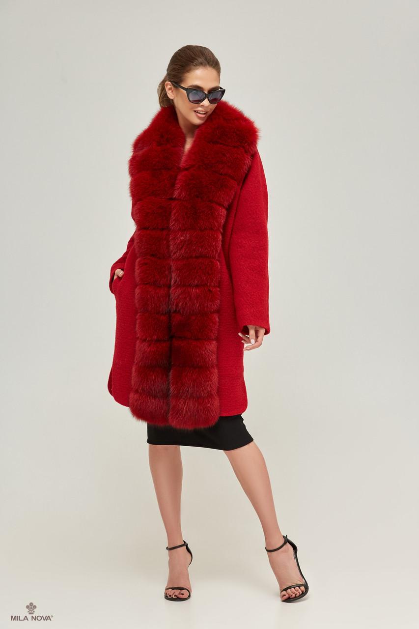 655e0fd367c Mila Nova Пальто ПВ-56 Красное — в Категории