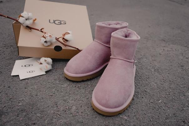 """Зимние женские сапожки Ugg """"Pink"""" ( в стиле Угги )"""