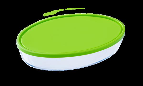 Форма с/к PYREX  форма с крыш.стекл. овал. 35х24х6см (3л) (346P002)