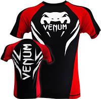 Рашгард ММА Venum Electron 2.0 Rashguard - Black, фото 1