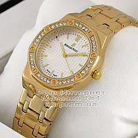 Женские наручные часы Audemars Piguet Quartz Gold White Dimond Адемар Пиге качественная реплика, фото 1