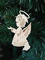 """Игрушка на елку """"Ангел""""(деревянная)"""
