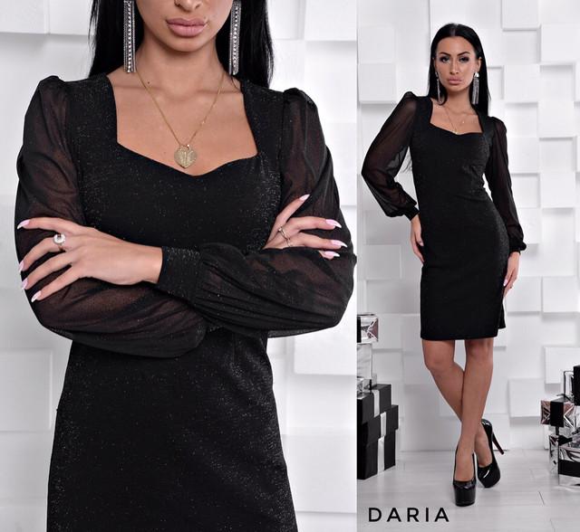 359aad308e2 Платье нарядное люрекс с рукавом из сетки  продажа