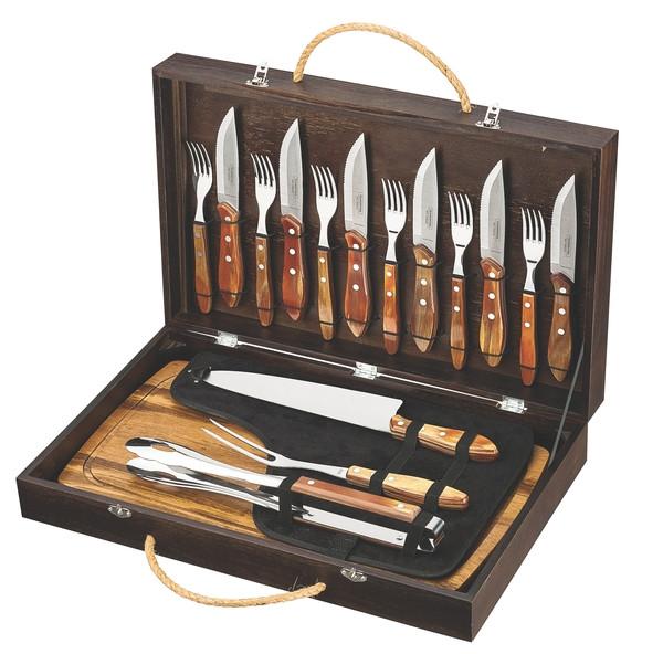 Барбекю TRAMONTINA Barbecue 17пр чемодан(нож,вил,щип,дост,ст.приб)цв.уп (21198/466)
