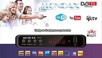 Тюнер DVB-T2 LCD Mondax  с поддержкой  wi-fi адаптера, Цифровой ресивер, Внешний тюнер, Приставка Т2