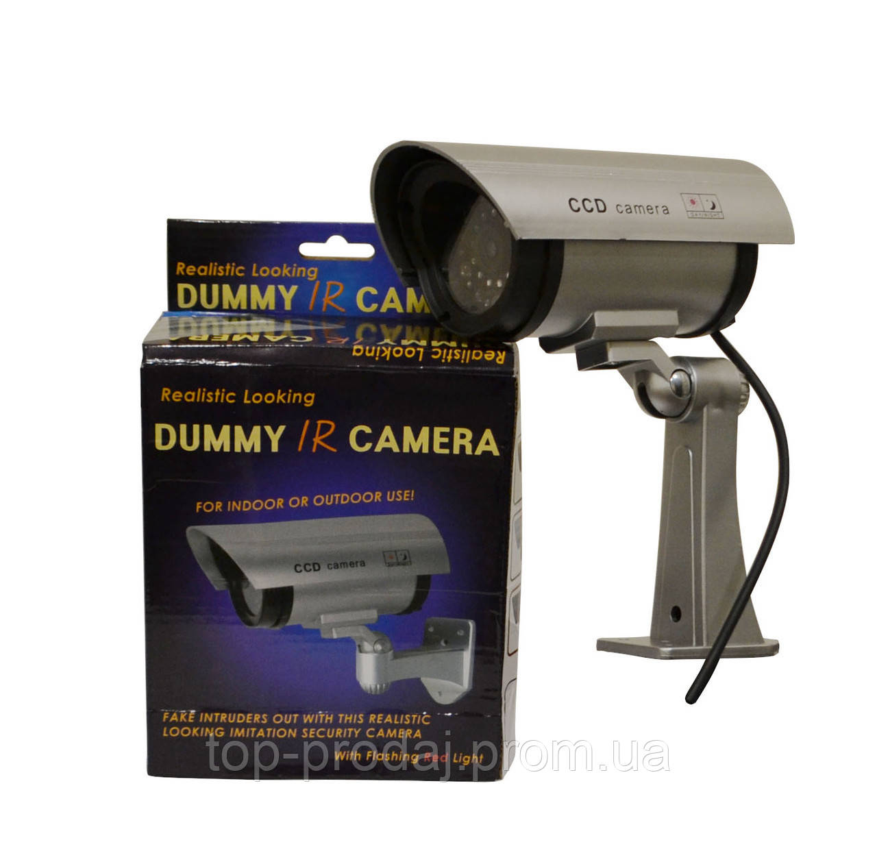 Муляж камеры  CAMERA DUMMY 1100, Корпусная камера-обманка, Муляж камеры видеонаблюдения,Уличная камера муляж