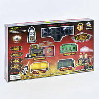 Железная дорога 2420 (8) паровоз на р/у, свет, звук, дым, в коробке