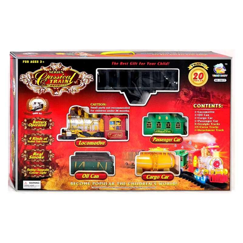 Железная дорога 2817 (8) свет, звук, дым, в коробке