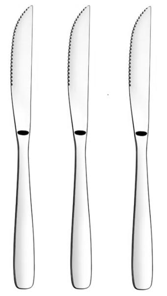 Столовые приборы TRAMONTINA AMAZONAS нож д/стейка - 3 шт  (66960/181)