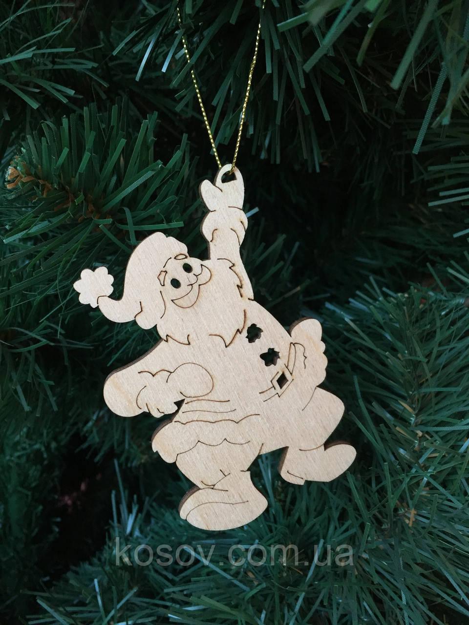 """Игрушка на елку """"Дед Мороз"""" (деревянная)"""
