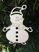 """Игрушка на елку """"Снеговик"""" (деревянная)"""