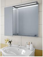 Шкаф зеркальный Garnitur.plus в ванную с LED подсветкой и полкой 33L (DP-V-200132)