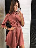 Женское стильное замшевое платье с ремнем (2 цвета), фото 3