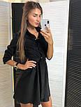 Женское стильное замшевое платье с ремнем (2 цвета), фото 4