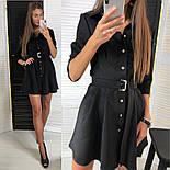 Женское стильное замшевое платье с ремнем (2 цвета), фото 2