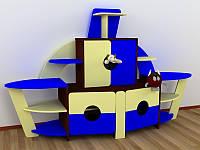 Детская стенка для игрушек КОРАБЛИК (2143*572*1322h)