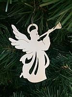 """Игрушка на елку """"Ангел мира""""(деревянная)"""