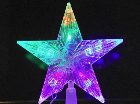 Верхушка LED звезда 10 лампочек, фото 2