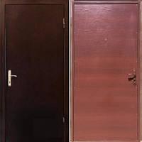 Бронированная дверь Sova Металл/ДСП орех (850х2040) R