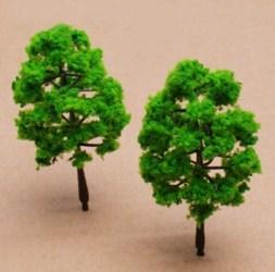 Деревья, флок, имитация травы, листьев