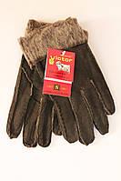 Женские перчатки Темно Коричневые Виктор (Виктор тем.коричн женские)