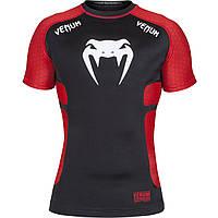 Рашгард Venum Absolute Short Sleeves Black Red , фото 1