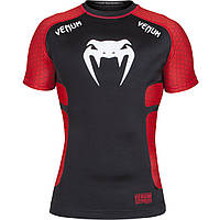 Рашгард Venum Absolute Short Sleeves Black Red