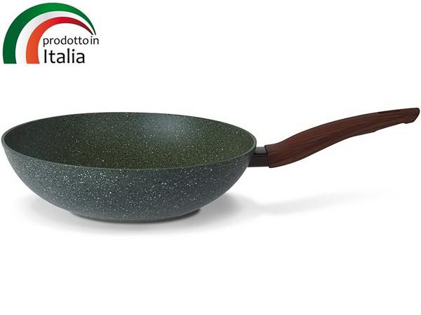 Сковорода TVS NATURA INDUCTION сковорода Вок 28 см б/крышки (BS793282910001)