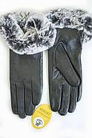 Женские кожаные перчатки ВЯЗКА СЕНСОРНЫЕ Средние WP-162683s2, фото 1