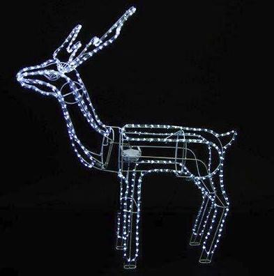 Светодиодный новогодний олень LED, фото 2