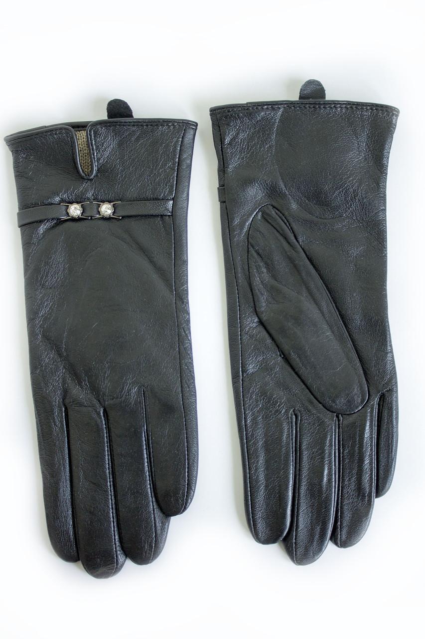 Женские кожаные перчатки ВЯЗКА СЕНСОРНЫЕ Большие W22-160043s3