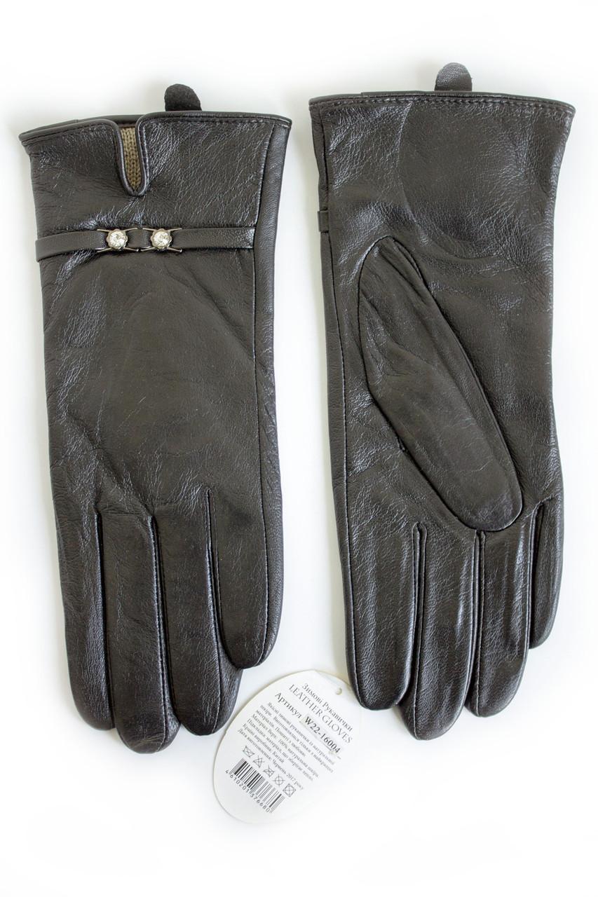 Женские кожаные перчатки КРОЛИК СЕНСОРНЫЕ Средние W22-160044s2