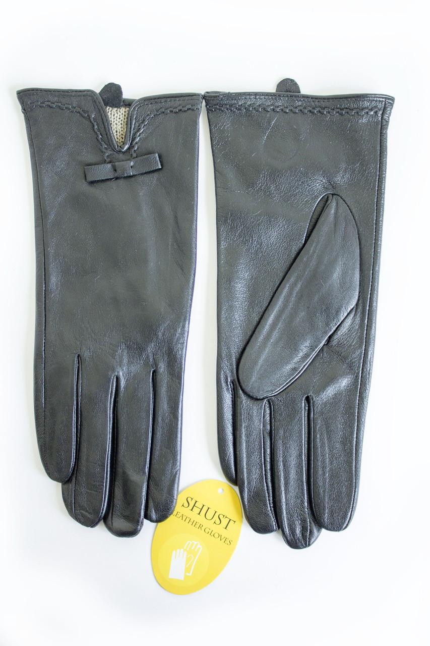 Женские кожаные перчатки ВЯЗКА Средние WP-161811s2