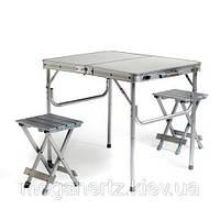 Набор мебели алюминиевый стол чемодан + 2 стула