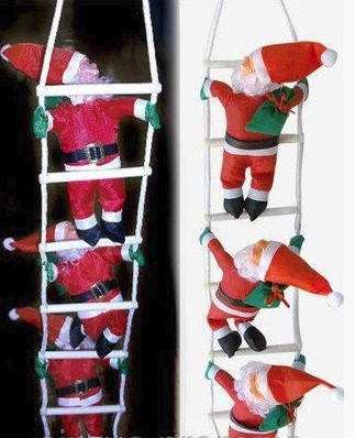 3 Деда Мороза на лестнице (25см), фото 2