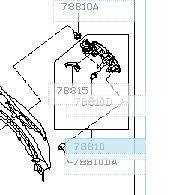 Лючек бензобака  INFINITI FX45/35 78830-8Y80E