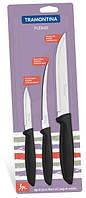Наборы ножей TRAMONTINA PLENUS black н-р ножей 3пр (том,овощ,д/мяса) инд.бл (23498/013), фото 1