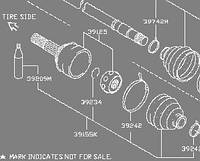Шрус наружный на INFINITI FX45/35 39211-WL000