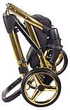 Коляска 2 в 1 Adamex Chantal Polar (Gold) C1 чорний, фото 8