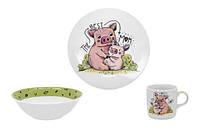 Набор посуды детск. Limited Edition PIGGY /НАБОР/3 пр. короб (C528)