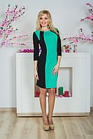 Платье с вставками мята, фото 1