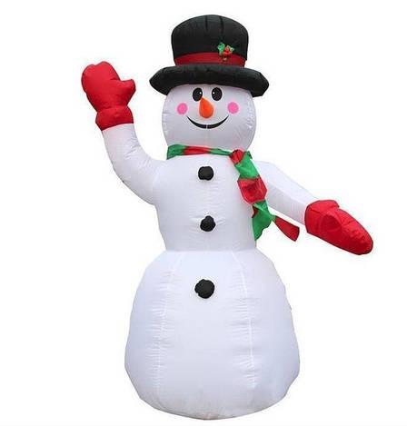 Сніговик надувний висота 1.8 м, фото 2