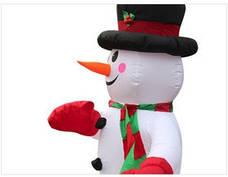 Сніговик надувний висота 1.8 м, фото 3