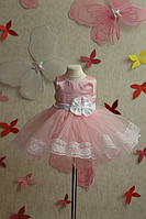 """Нарядное детское платье """"Нежное наслаждение"""" в розовом цвете"""
