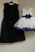 """Нарядные платья на мам и доченьку """" Синяя тучка"""""""