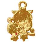 Подвеска Кулон Сова с Розой из Металла Цвет: Золото, выс 21 мм., шир 15 мм. толщ 7 мм. для Бижутерии, фото 2