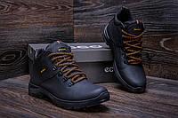 Мужские зимние кожаные ботинки Ecco Infinity  (реплика)