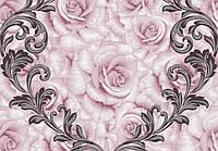 Обои Lanita на бумажной основе Френсис декор ВКП3-0980 розово-сиреневый 0,53х10,05м